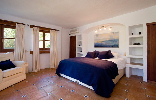 One of the bedrooms downstairs